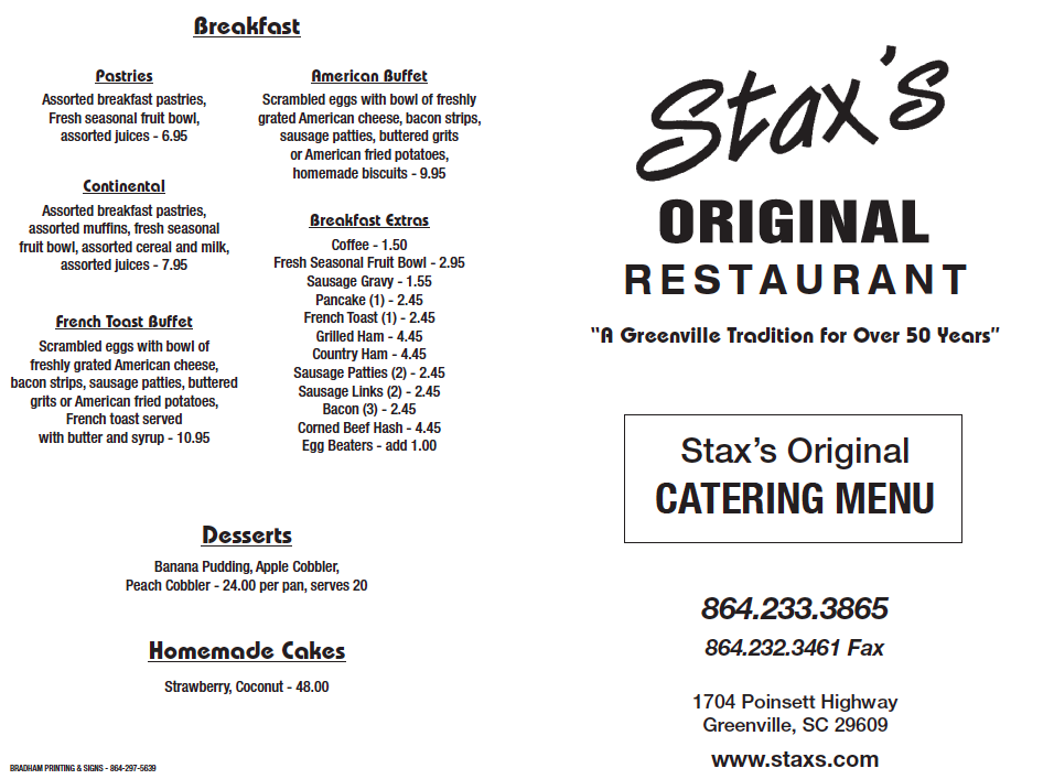 Click for Catering Menu