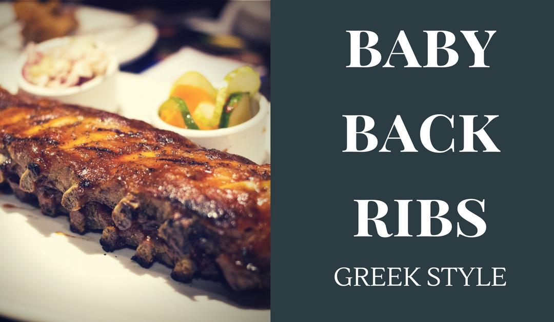 Greek Style Baby Back Ribs